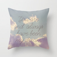 My Dream  Throw Pillow by Rachel Burbee | Society6