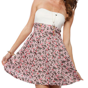 Papaya Clothing Online :: FLORAL PATTERN FLARE TUBE DRESS