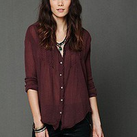 Free People Clothing Boutique > FP ONE Gauze Buttondown