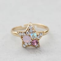 Modern Girls Colorful Shining Star Rings : Wholesaleclothing4u.com