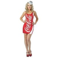 Amazon.com: Rasta Imposta Coca Cola Tank Dress, Red/White, Adult 4-10: Clothing