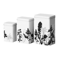 TRIPP Storage tin with lid, set of 3 - IKEA