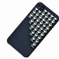 SODIAL(TM) Fashion Pyramid Punk Spike Stud Mobile Phone Case for iPhone 5 Cover with Pyramid Rivet