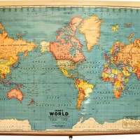 One Kings Lane - Vintage + Market Finds - George E. Cram Co. World Map