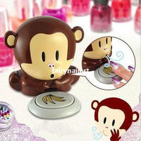 Nail Polish Valish Cute Monkey Blow Dryer Nail Art Drying Tool New