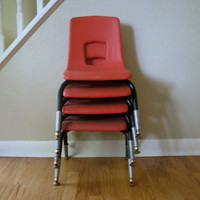 Vintage Orange Artco Bell Co. Set of Chairs