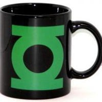ROCKWORLDEAST - Green Lantern, Coffee Mug, Logo On Black