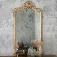 One of a Kind Vintage Mirror Weathered Old Cream