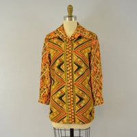 Vintage boho blouse / autumn fashion / 1960s