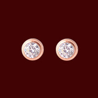 Single Drill 18k Rose Gold Earrings.. on Luulla