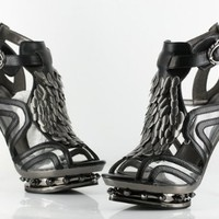 My Associates Store - Metropolis ORION Women's High Heel Hades Criss Cross Steampunk Platform Ankle Buckle Retro Sandals.