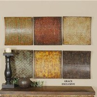 Uttermost Company Accessories Concaved Squares, S/6 Wall Decor 13320 - Talsma Furniture - Hudsonville, Holland and Byron Center, MI