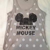 Mickey Mouse Polka Dotted Tank