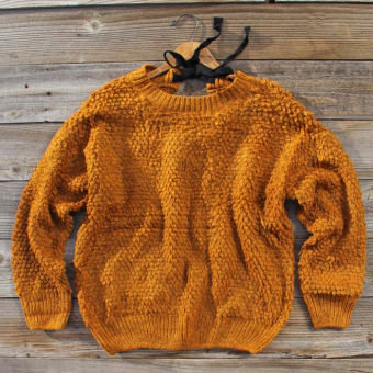 Tied Toffee Cozy Knit Sweater, Cozy Women's Sweaters