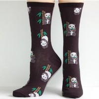 Amazon.com: Socksmith Women's Black Panda Crew Socks: Clothing
