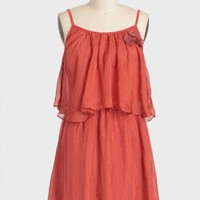 tuscan poppies tiered dress at ShopRuche.com