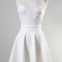 Victorian Flare Dress (White)