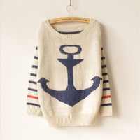 ship anchor sweater- FOLLOW ME @abbazaba