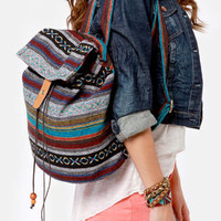 Give It All You Guatemala Tribal Print Backpack