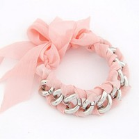 FREE SHIPPING Pink Ladies Wear Bow Chain Bracelet 11022278 from DressLoves
