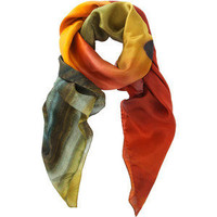 Richard Weston Agate Print Silk Scarf - Weston Scarves - Polyvore