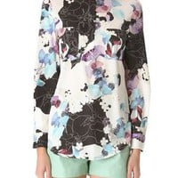 3.1 Phillip Lim Scrapbook Floral Blouse with Hidden Zip | SHOPBOP