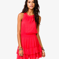 Flounced Chiffon Dress