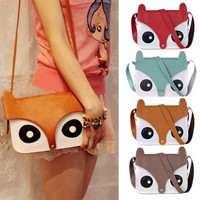 Cute retro owl shoulder messenger hand bag - FREE SHIPPING