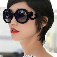 Retro butterfly semi transparent round sunglasses - FREE SHIPPING