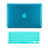 "Amazon.com: TopCase® 2 in 1 AQUA BLUE Crystal See Thru Hard Case Cover and Keyboard Cover for Macbook Pro 13-inch 13"" (A1278/with or without Thunderbolt) with TopCase® Mouse Pad: Computers & Accessories"