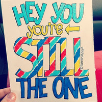 Still The One Lyric Drawing by samonstage on Etsy