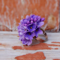Ring lilac made to order by RykhlinskaARTstudio on Etsy