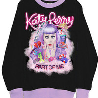 Katy Perry Part Of Me Black Lilac Two Tone Sweatshirt