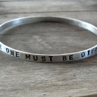 personalized bracelet - sterling silver bangle bracelet
