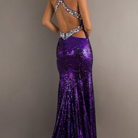Long Sequin Dress with Slit