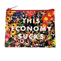 BlueQ This Economy Sucks Coin Purse