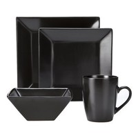 Harmony 16-pc. Dinnerware Set - Black