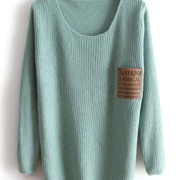 Green pullover sweater