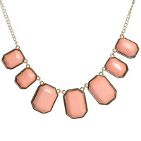 Faceted Square Statement Necklace | Shop Accessories at Wet Seal
