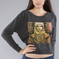 The Peace Woman Graphic Knit in Heather Onyx