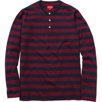 Supreme: Striped Henley - Navy
