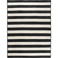 Westport Collection Indoor Outdoor Area Rug in Black White By Surya Rugs