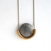 NEW -  labradorite stone necklace