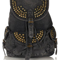 Studded Denim Backpack - Bags &amp; Purses - Accessories - Topshop