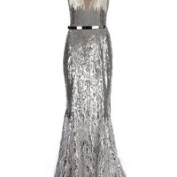 Zuhair Murad Metallic Evening Dress - L?Eclaireur - farfetch.com
