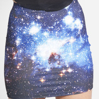Galaxy Blue Skirt | Black Milk Clothing