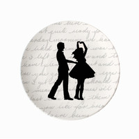 Couple Dancing Silhouette Plate - $24.00 : Le Papier Studio, The premier online retailer for custom silhouette gifts, custom wedding invitations and stationery, silhouette jewelry, monogram gifts and silhouette nursery decor.