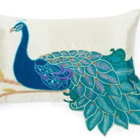 One Kings Lane - Thro - Fancy Peacock Pillow, Multi