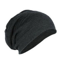 Charcoal Beanie Knit Hat