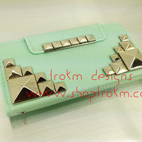 Mint leatherette wallet stand combo case iPhone 5 by ShopTrokm